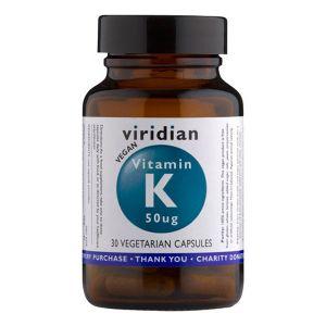 Viridian Vitamin K 50ug 30 Vegetarian Capsules