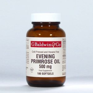 Baldwins Evening Primrose Oil 500mg 180 Softgel