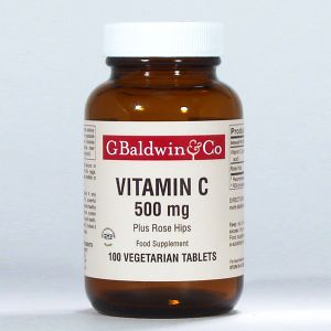 Baldwins Vitamin C 500mg Plus Rosehips