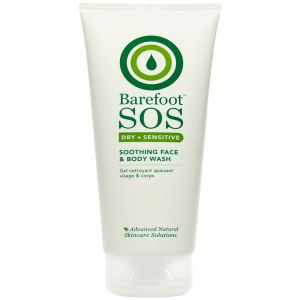 Barefoot Sos Dry + Sensitive Soothing Face & Body Wash 200ml