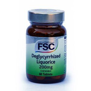 Fsc Deglycerrized Chewable Liquorice 60 Tablets