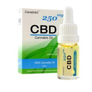 Canabidol CBD 100% Cannabis Oil 250mg 10ml