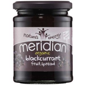 Meridian Organic blackcurrant Fruit Spread No Refind Sugar 284g