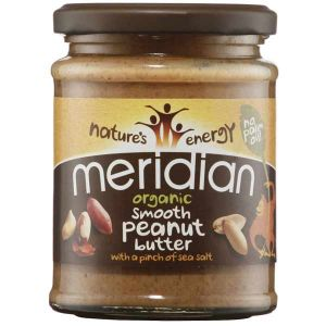 Meridian Organic Smooth Peanut Butter with a pinch of salt 280g