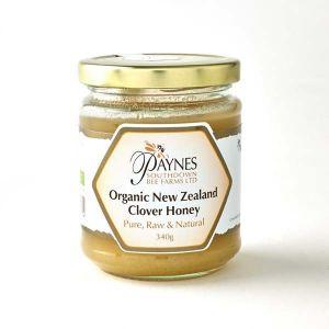 Paul Paynes Organic New Zealand Clover (clear) Honey 340g