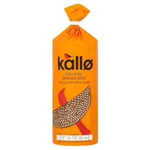 Kallo Organic Sesame Seed Wholegrain Rice Cakes 130g