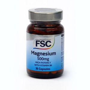 Fsc Magnesium 500 (30 Vegetarian Capsules)