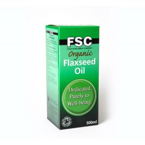 Fsc Organic Cold-pressed Flaxseed Oil With Omega 3 500ml