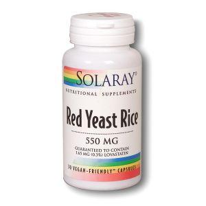 Solaray Red Yeast Rice 600mg 30 Capsules