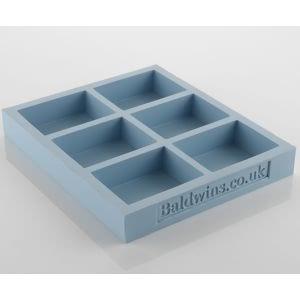 Baldwins 6 Bar Silicon Soap Mould X 3