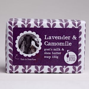 Laughing Bird Chamomile & Lavender Soap (with Shea Butter & Goat's Milk) 150g