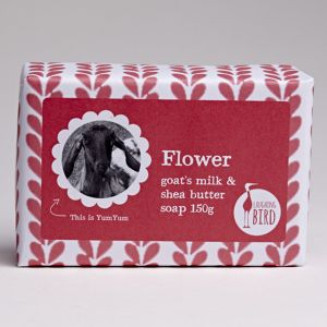 Laughing Bird Flower Soap (with Shea Butter & Goat's Milk) 150g