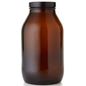 Baldwins Wide Mouth Amber Glass Jar 1000ml