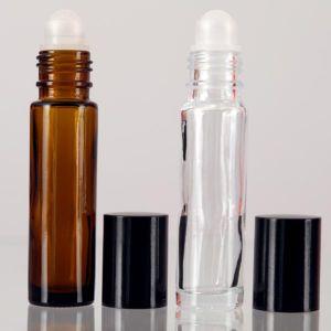 Baldwins Amber Glass Roll On Bottles 10ml