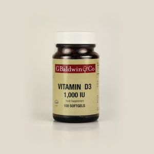 Baldwins Vitamin D3 1000iu 100 Softgels