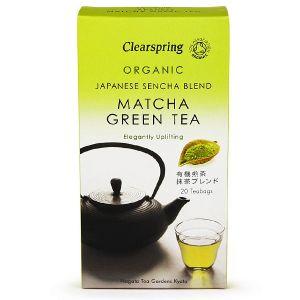 Clearspring Organic Matcha Green Tea - Japanese Sencha Blend 20 Teabags