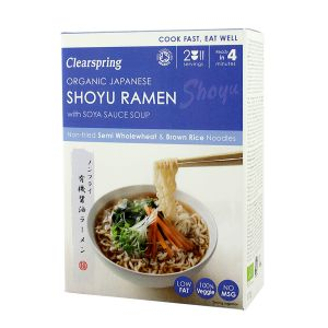 Clearspring Organic Japanese Shoyu Ramen With Soya Sauce Soup (2 Servings)