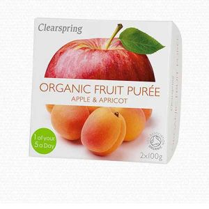 Clearspring Organic Fruit Puree Apple and Apricot 2x100g