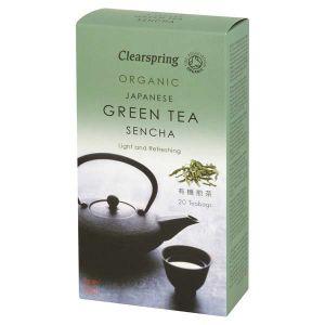 Clearspring Organic Japanese Sencha Blend Ginger Green Tea 20 teabags
