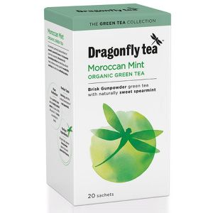 Dragonfly Tea Moroccan Mint Organic Green Tea & Spearmint 20 Sachets