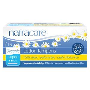 Natracare Organic All Cotton Applicator Tampons X 16  (super)