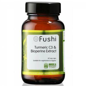 Fushi Organic Wholefood Turmeric C3 & Bioperine Extract 60 Capsules
