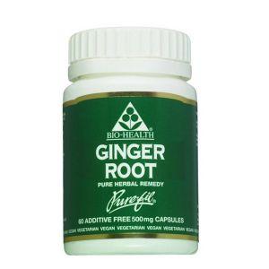 Bio-health Ginger Root 500mg 60 Vegetarian Capsules