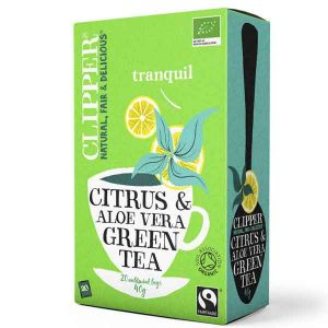 Clipper Organic Green Tea With Aloe Vera And Citrus 20 Teabags
