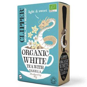 Clipper Organic White Tea With Vanilla 26 Teabags