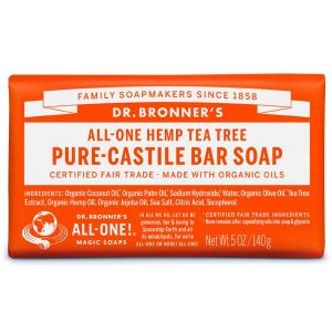 Dr Bronner's Pure Castile Soap Bar Hemp Tea Tree 140g