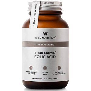 Wild Nutrition General Living Food-Grown Folic Acid 30 Capsules