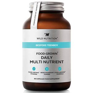 Wild Nutrition Bespoke Teenboy Food-Grown Daily Multi Nutrient 60 Capsules