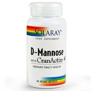 Solaray D-Mannose With CranActin 60 Vegan Capsules