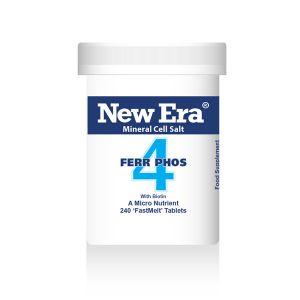 New Era Mineral Cell Salts No.4 Ferr Phos (iron Phosphate) 240 'fastmelt' Tablets