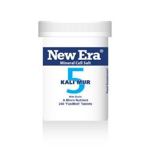 New Era Mineral Cell Salts No.5 Kali Mur (potassium Chloride) 240 'fastmelt' Tablets
