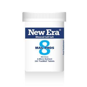 New Era Mineral Cell Salts No.8 Mag Phos (magnesium Phosphate) 240 'fastmelt' Tablets
