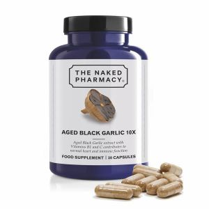 The Naked Pharmacy Aged Black Garlic 10x Food Supplement 30 capsules