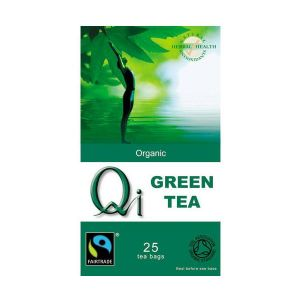 Qi Organic Fairtrade Green Tea 25 Bags