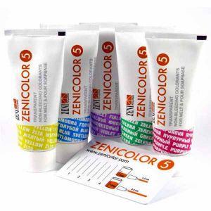 Zenicolor 5 Transparent, Non-Bleeding Colorants For Soap Bases 5 x 30g Tubes