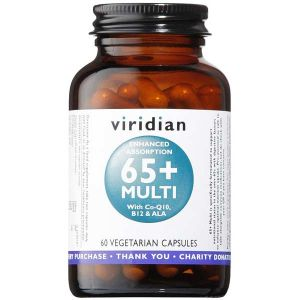 Viridian 65+ Multi with Co-Q10, B12 & ALA 60 Vegetarian Capsules
