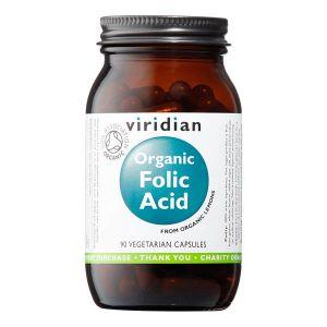 Viridian Organic Folic Acid 400 ug 90 Vegetarian Capsules