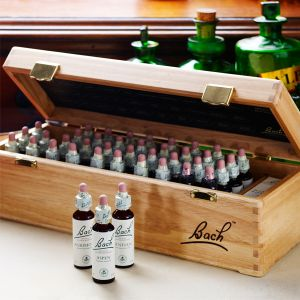 Bach Flower Remedies 20ml Complete Set In A Wooden Carrying Case.