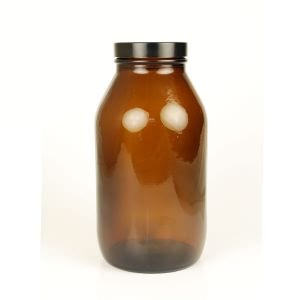 Baldwins Wide Mouth Amber Glass Jar 1000ml