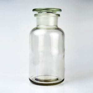 Baldwins Glass Reagent Jar 500ml Clear