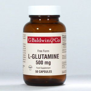 Baldwins L-glutamine 500mg 50 Vegecaps