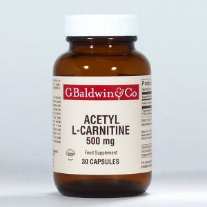 Baldwins Acetyl L-carnitine 500mg 30 Capsules