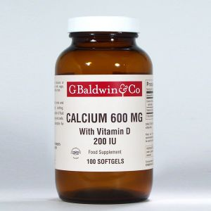 Baldwins Calcium 600mg With Vitamin D 200 Iu 100 Softgels