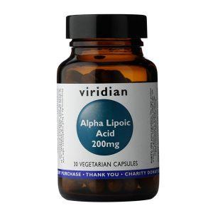 Viridian Alpha Lipoic Acid 200mg 30 Vegetarian Capsules