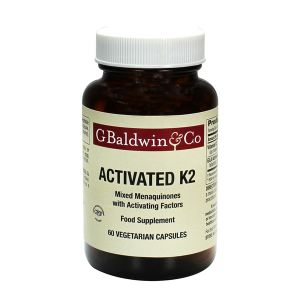 Baldwins Activated K2 Mixed Menaquinones 60 Vegetarian Capsules