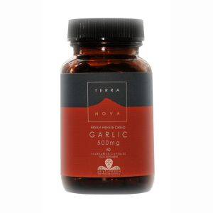 Terranova Garlic (freeze Dried) 50 Vegetarian Capsules